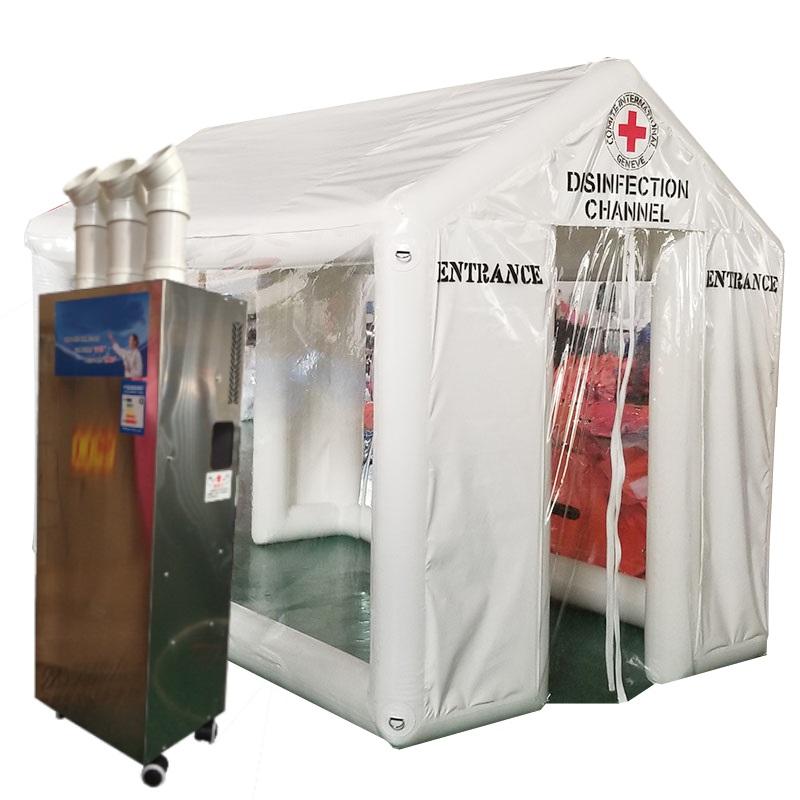 coronavirus sanitation booths